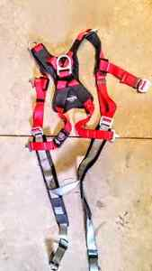 Full body harness with retractable lanyard for sale