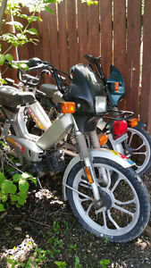 Three Tomos Kick Start Mopeds (Package Deal)