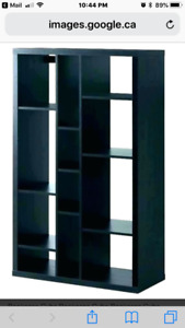 Ikeas bookcases and console table