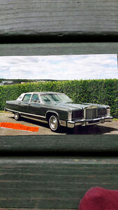 Lincoln ,continental, Town car, voiture antique, 1977,barn find