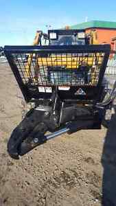 "12"" Heavy duty tree shear skid steer / bobcat attachment"
