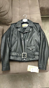 "Schott ""One Star"" Perfecto Leather Motorcycle Jacket Style: 613"