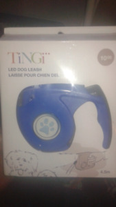 Dog leash with led light new in package