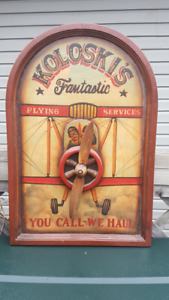 Vintage airplane collectible 3D wall sign