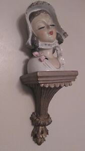Wall Sconce with Lady Statue