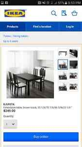 IKEA Dining table and 6 chairs Windsor Region Ontario image 2