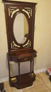 FRONT HALL TABLE WITH MIRROR