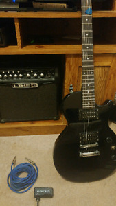 Epiphone Les Paul with Line 6 amp