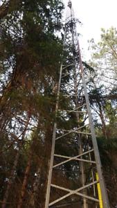 Tour antenne télévision acier galvanisé 60 pieds (Ste-Justine)