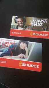 The Source gift card $390