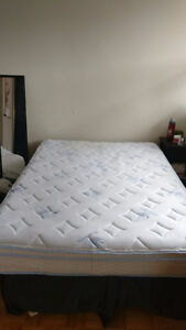 Mattress, box spring, and frame for sale
