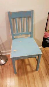 2 Rustic refinished chairs
