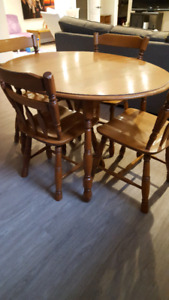 Solid Wood Table/4Chairs ($100.00)