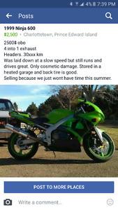 Ninja 600 street bike