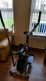 Cross trainer exercise bike treadmill gym weights