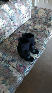 BLACK LEATHER BOOTS (cost over $500+tax in store) Kitchener / Waterloo Kitchener Area image 3