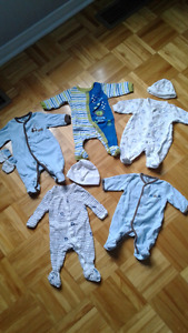 5 pyjamas prématuré