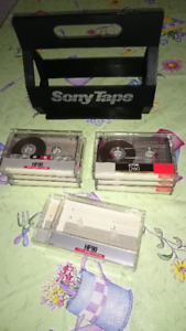 Audio Cassette Tapes & Cases for Tape Storage