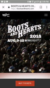 Boots and Hearts Full Event Ticket and Campsite for sale