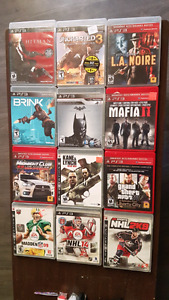 13 ps3 games 10$ each or all 13 for $60