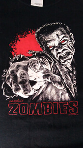 Zombies t-shirt size large used zombies!!! Game not walking dead