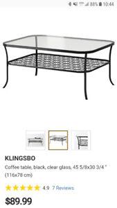 Ikea Glass Coffee and Side Table