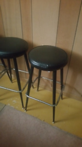 Leather Bar Stools (Metal Legs) *Great Condition*