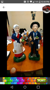 Hand painted statues. Sold as a set