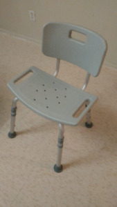 Safety shower tub bench chair and grab bar