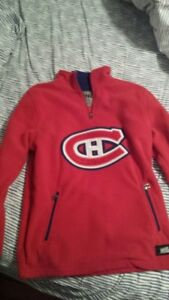 Boys Montreal Canadiens fleece pullover, size L