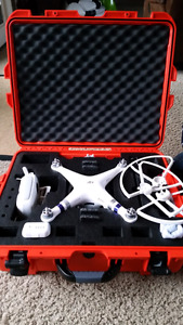 Phantom 3 advanced with nanuk case and extra battery
