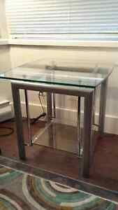 Structube glass top side tables (2)
