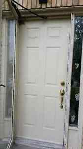 Steel Door with Bonus Free Storm Door to Match $300 OBO