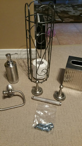 Bathroom accessories - high quality brushed metal