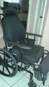 New Recliner Wheelchair - 18 inches wide