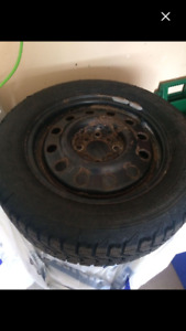 4 firestone snow tires on rims