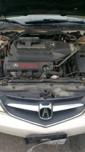 Acura 2002 v6 LS good motor and tranny selling it as is