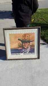 John Wayne - Standing Tall painting.