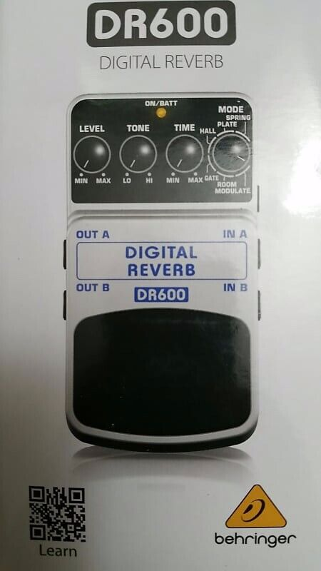 New Behringer DR600 Digital Reverb Guitar Effect Pedal USA Free Shipping - $54.99