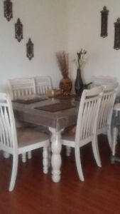 Dining room table and 6 chairs$150.00