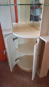 Corner display cabinet for Crystal with mirrors &glass shelves London Ontario image 3