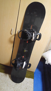 Burton snowboard with size 9 DC boots