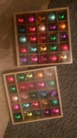 Mini glass ornaments.