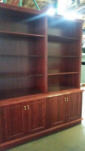 2pc Solid wood Buffet and display unit
