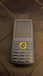 Samsung flip phone with QWERTY keyboard.