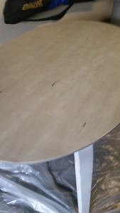 Solid wood dining table- refinished-like new
