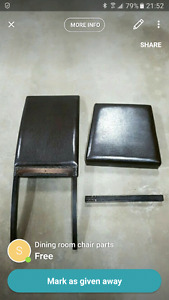 FREE - Dining room chair parts - FREE