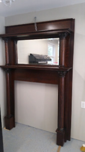 Vintage fireplace surround and mantel