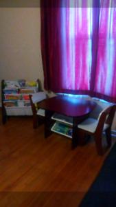 Table & chairs and book sling