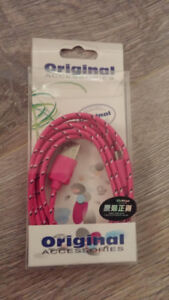 Brand new Hot Pink USB cable (in original packaging)